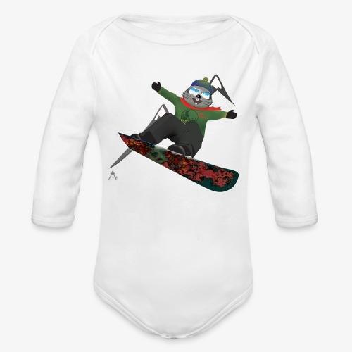 snowboard marmot - Body bébé bio manches longues