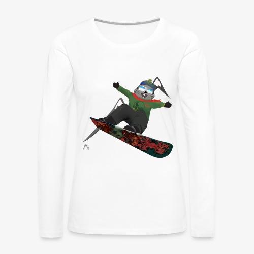 snowboard marmot - T-shirt manches longues Premium Femme