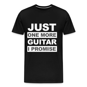 Just One More Guitar - Black - Mannen Premium T-shirt