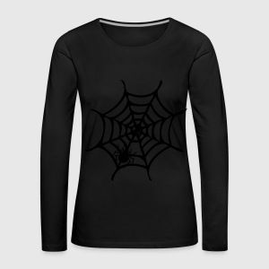 Spider on the web Women's Boat Neck Long Sleeve To - Women's Premium Longsleeve Shirt