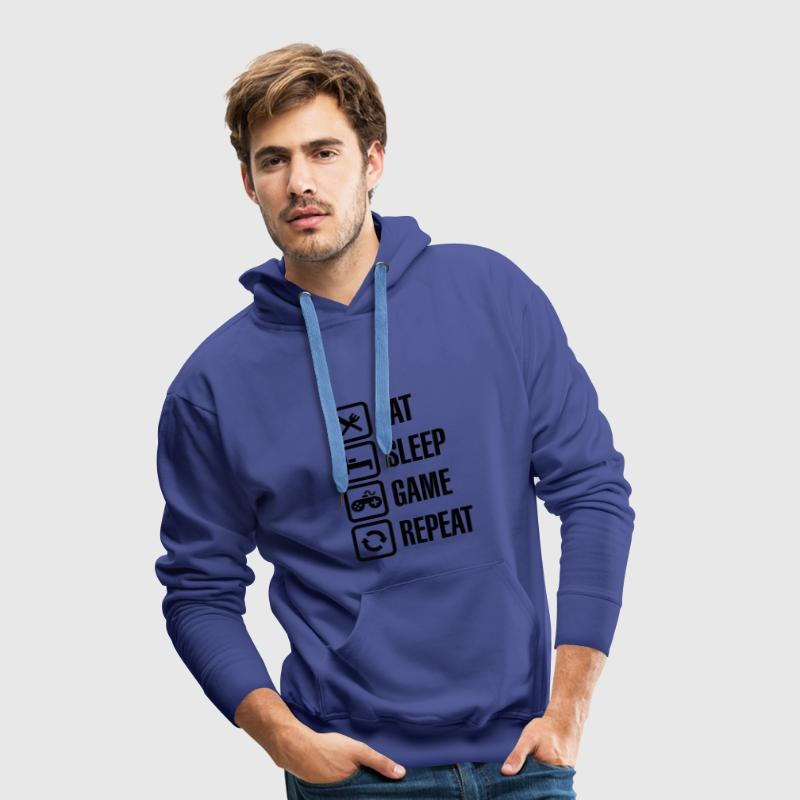Eat sleep game repeat Pullover & Hoodies - Männer Premium Hoodie