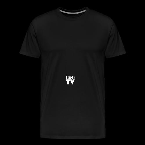 Snapback Simple (weiß-schwarz) - Männer Premium T-Shirt