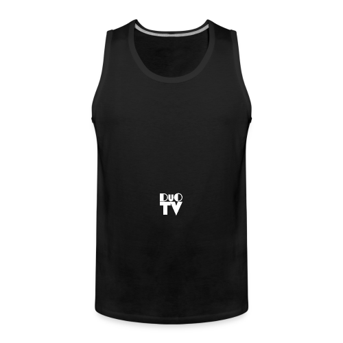 Snapback Simple (weiß-schwarz) - Männer Premium Tank Top