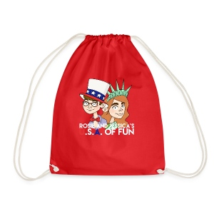 Rosie and Jessica's USA of Fun Tote Bag - Drawstring Bag