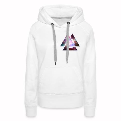 T-shirt motif Triangle galaxy - Sweat-shirt à capuche Premium pour femmes