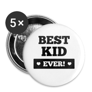 Best kid ever T-Shirts - Buttons klein 25 mm