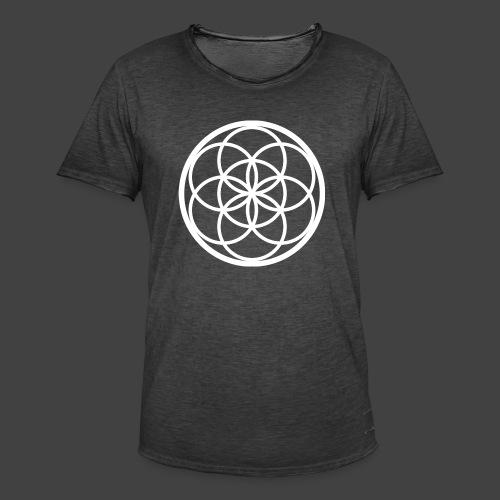 Flower of Life - Camiseta vintage hombre