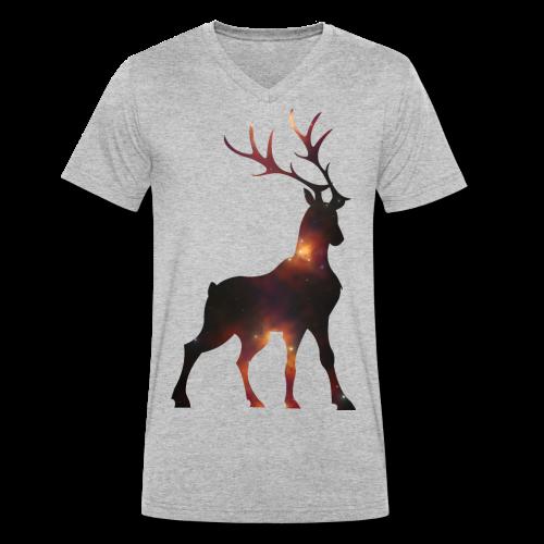 Hirsch - Männer Bio-T-Shirt mit V-Ausschnitt von Stanley & Stella