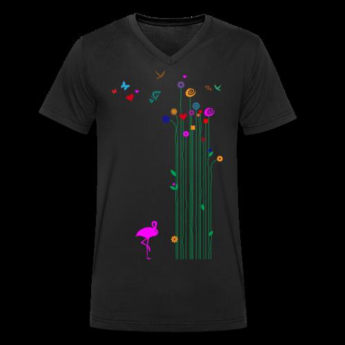 Schmetterlinge - Männer Bio-T-Shirt mit V-Ausschnitt von Stanley & Stella