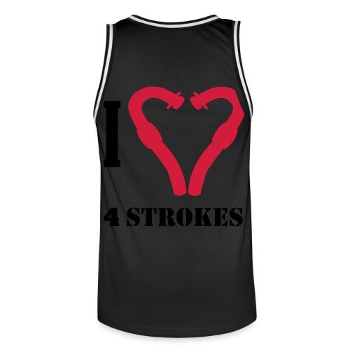 I love 4 strokes - Männer Basketball-Trikot