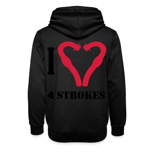 I love 4 strokes - Schalkragen Hoodie