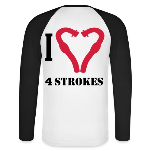 I love 4 strokes - Männer Baseballshirt langarm