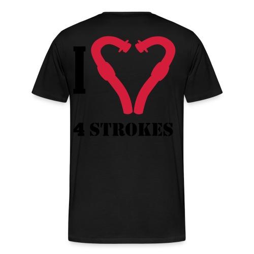 I love 4 strokes - Männer Premium T-Shirt