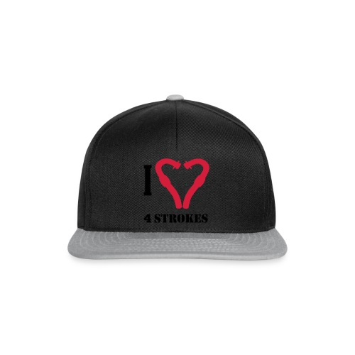 I love 4 strokes - Snapback Cap