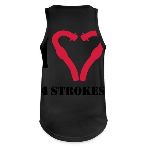 I love 4 strokes - Männer Tank Top atmungsaktiv