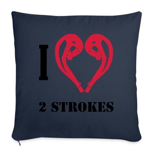 I love 2 strokes - Sofakissenbezug 44 x 44 cm