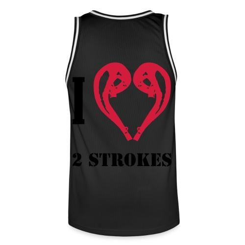 I love 2 strokes - Männer Basketball-Trikot