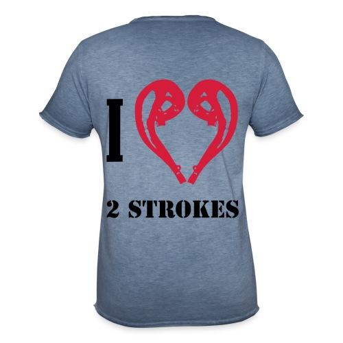 I love 2 strokes - Männer Vintage T-Shirt