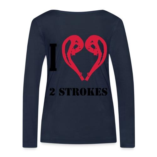 I love 2 strokes - Frauen Bio-Langarmshirt von Stanley & Stella