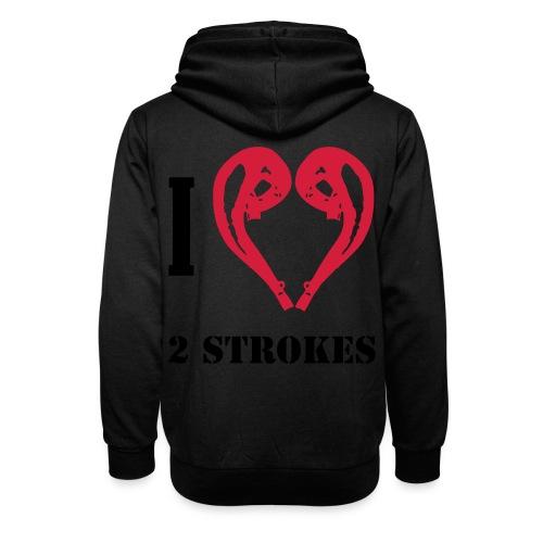 I love 2 strokes - Schalkragen Hoodie
