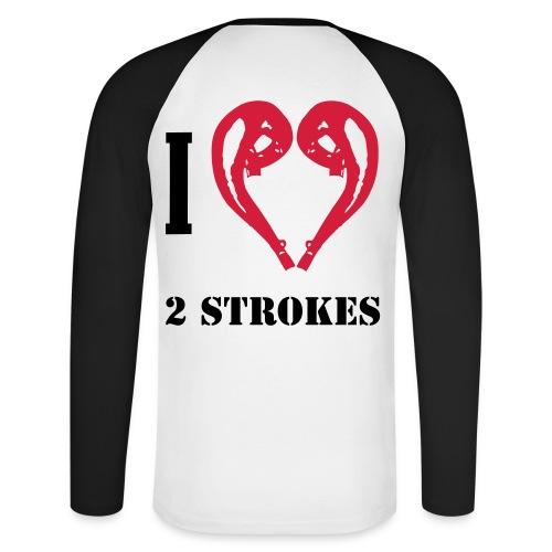 I love 2 strokes - Männer Baseballshirt langarm