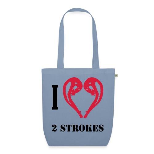 I love 2 strokes - Bio-Stoffbeutel