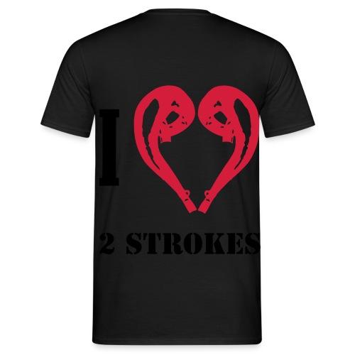 I love 2 strokes - Männer T-Shirt