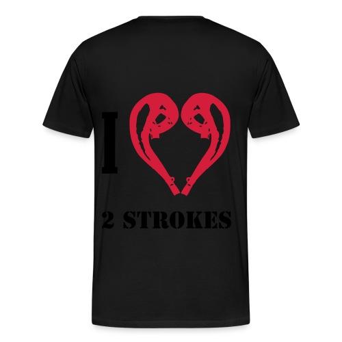 I love 2 strokes - Männer Premium T-Shirt