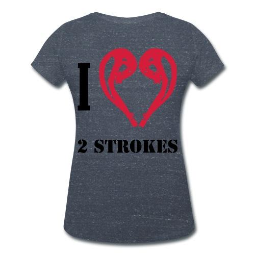 I love 2 strokes - Frauen Bio-T-Shirt mit V-Ausschnitt von Stanley & Stella