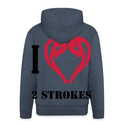 I love 2 strokes - Männer Premium Kapuzenjacke