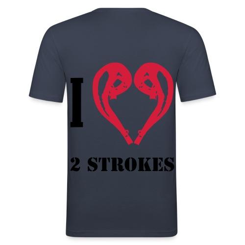 I love 2 strokes - Männer Slim Fit T-Shirt