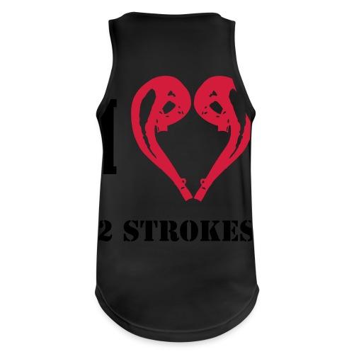 I love 2 strokes - Männer Tank Top atmungsaktiv