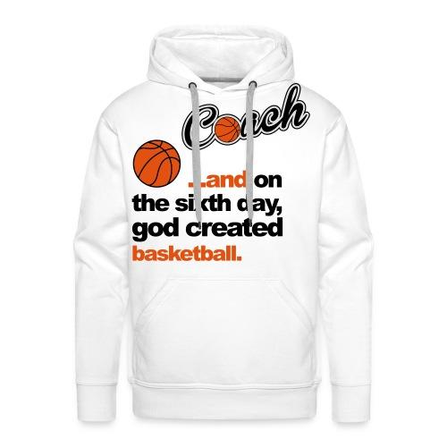 Basketbal Coach - Mannen Premium hoodie