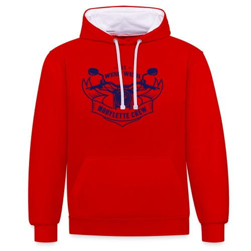 Promo - Wesh wesh mobylette crew - Sweat-shirt contraste