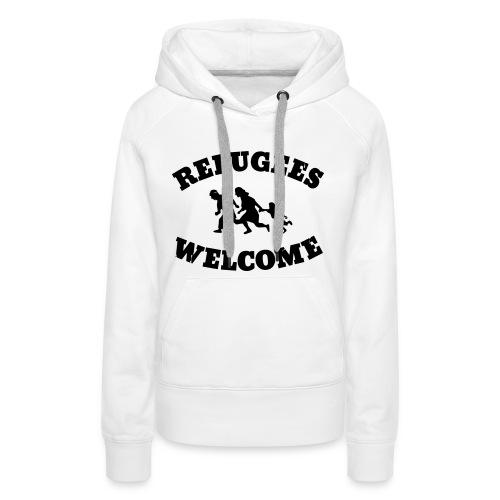 Refugees Welcome - Frauen Premium Hoodie