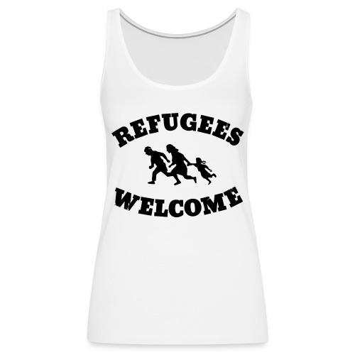 Refugees Welcome - Frauen Premium Tank Top