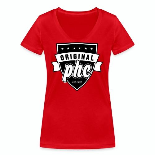 Original PHC est. 1997 T- shirt  - Ekologisk T-shirt med V-ringning dam från Stanley & Stella