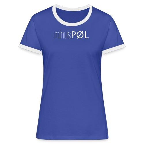 minusPØL-Team Shirt Frauen - Frauen Kontrast-T-Shirt