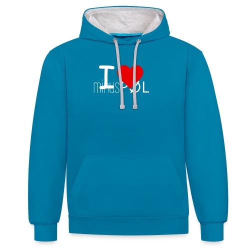 I love minusPØL Shirt Frauen - Kontrast-Hoodie