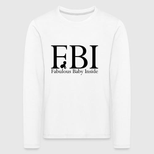 FBI Dragt Baby - Børne premium T-shirt med lange ærmer