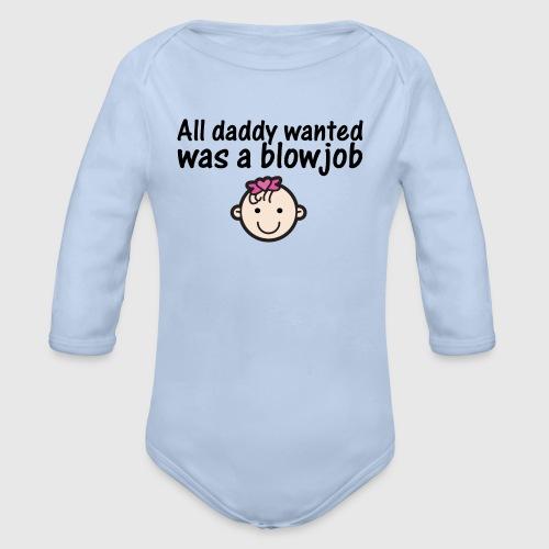 All daddy wanted - girl - 0-3 mdr. - Langærmet babybody, økologisk bomuld