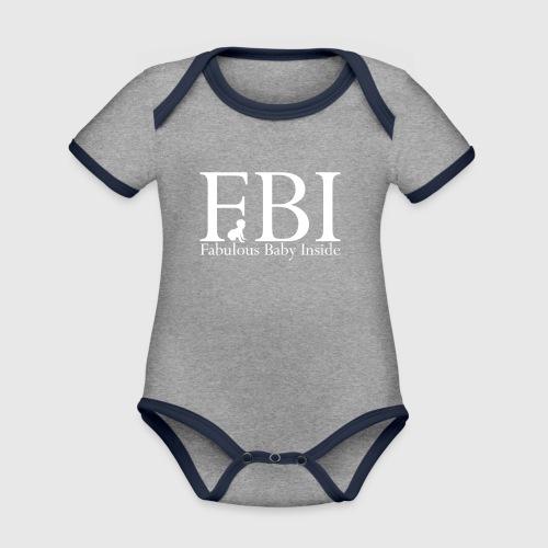 FBI Dragt Baby  - Kortærmet ækologisk babybody i kontrastfarver