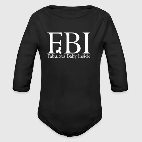 FBI Dragt Baby  - Langærmet babybody, økologisk bomuld