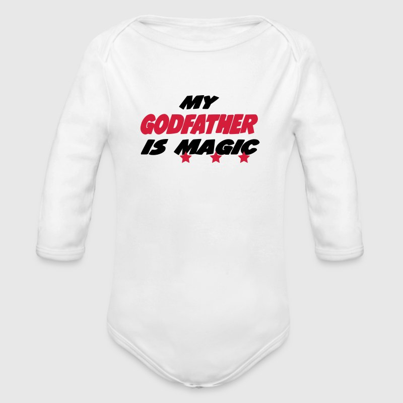 My godfather is magic Baby body - Baby bio-rompertje met lange mouwen