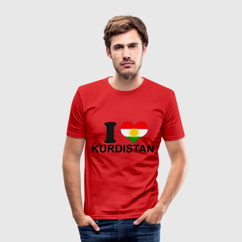 i love kurdistan T-Shirts - Männer Slim Fit T-Shirt