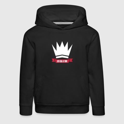 New king - Premium hættetrøje til børn