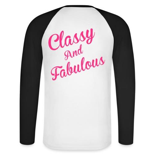 Classy and Fabulous  - Men's Long Sleeve Baseball T-Shirt