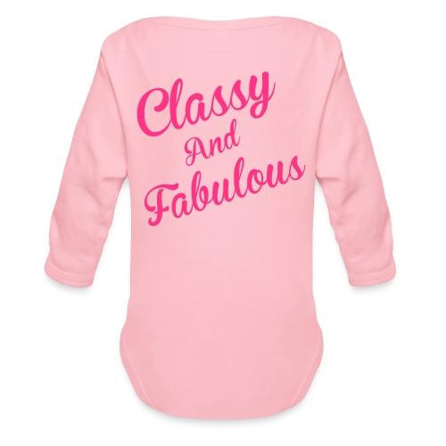 Classy and Fabulous  - Organic Longsleeve Baby Bodysuit