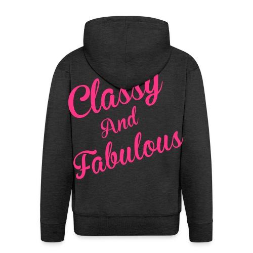 Classy and Fabulous  - Men's Premium Hooded Jacket