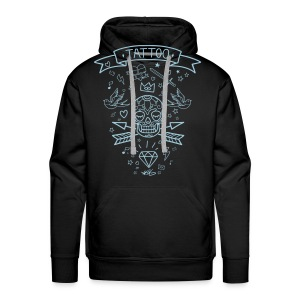 Tattoo Line Winter for Him - Sweat-shirt à capuche Premium pour hommes